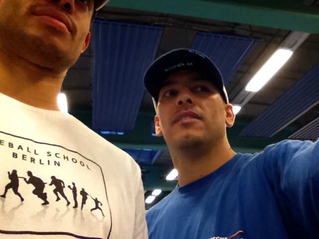 Tavo best ballplayer to touch ground on a german diamond and me