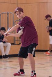 Elias hitting